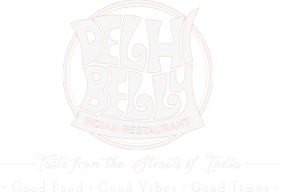 Delhi Belly | Indian Restaurant | Christchurch, New Zealand | Taste from the Streets of India | Street Food | Logo white